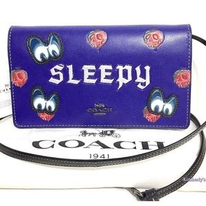 Coach Disney Handbag Snow White Sleepy Purse New